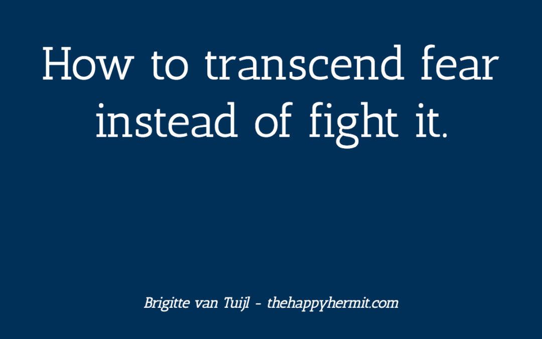 How to transcend fear instead of fight it.