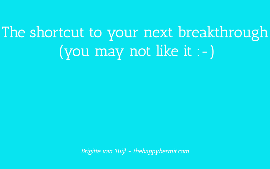 The shortcut to your next breakthrough (you may not like it ;-)