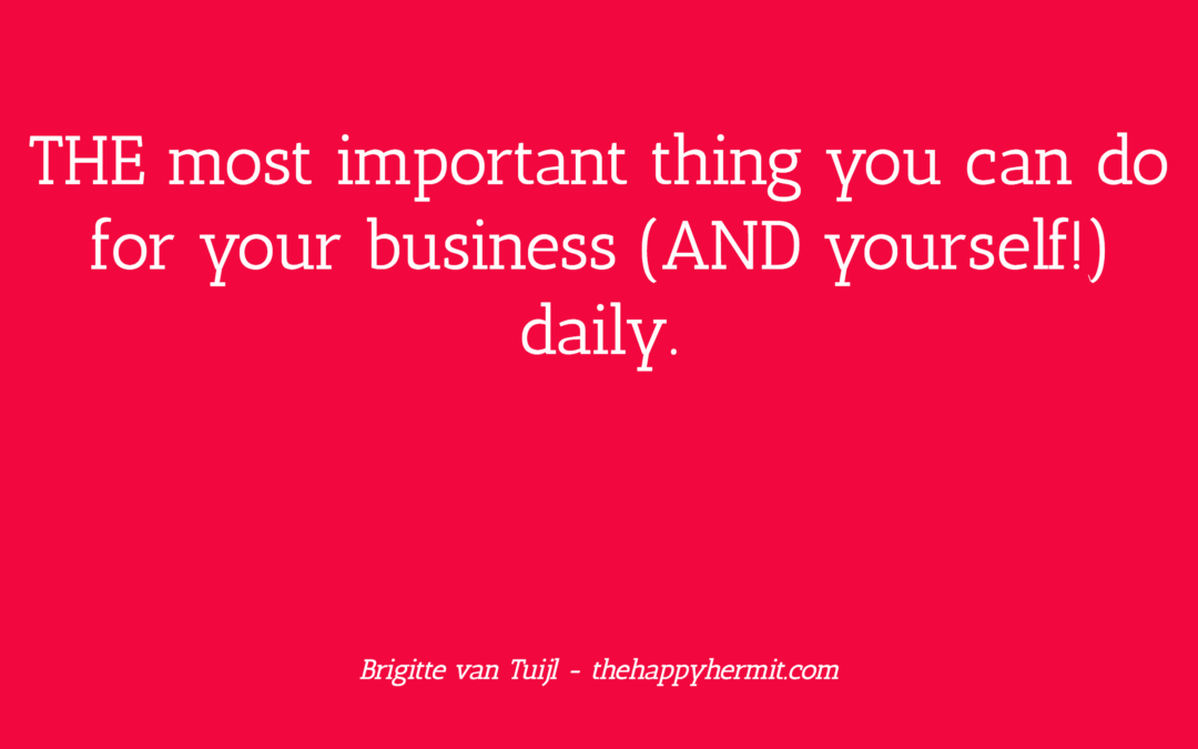 THE most important thing you can do for your business (AND yourself!) daily.