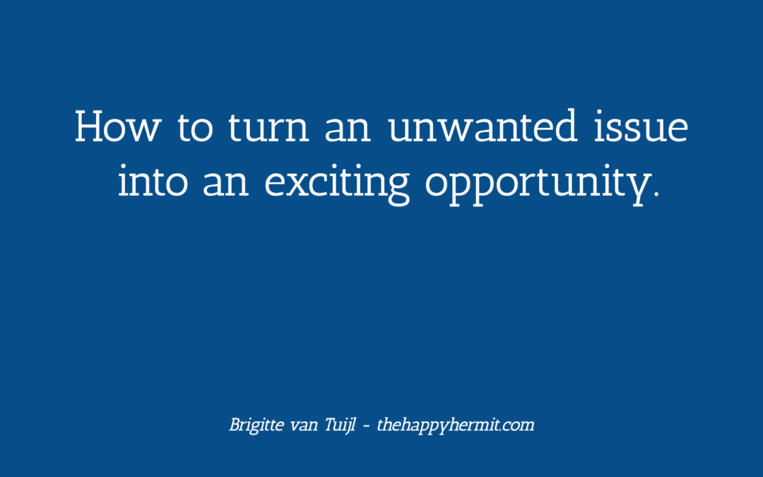 How to turn an unwanted issue into an exciting opportunity.