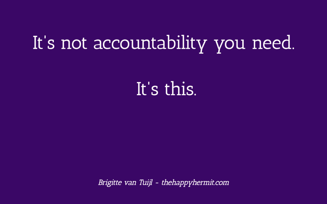 It's not accountability you need. It's this.