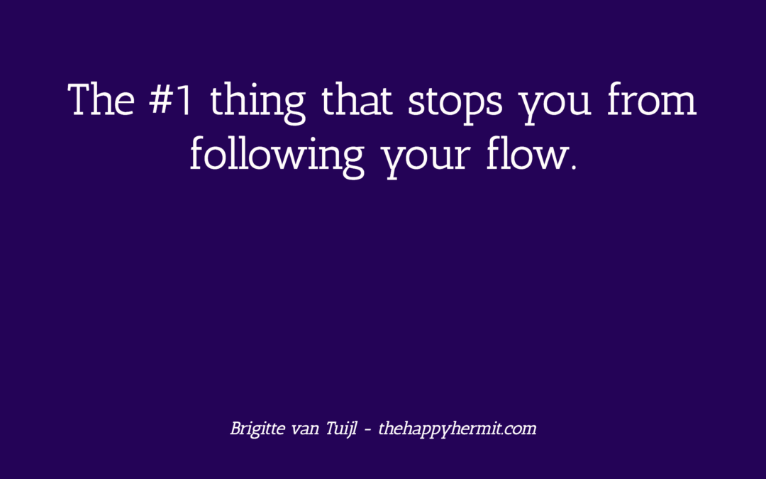 The #1 thing that stops you from following your flow.