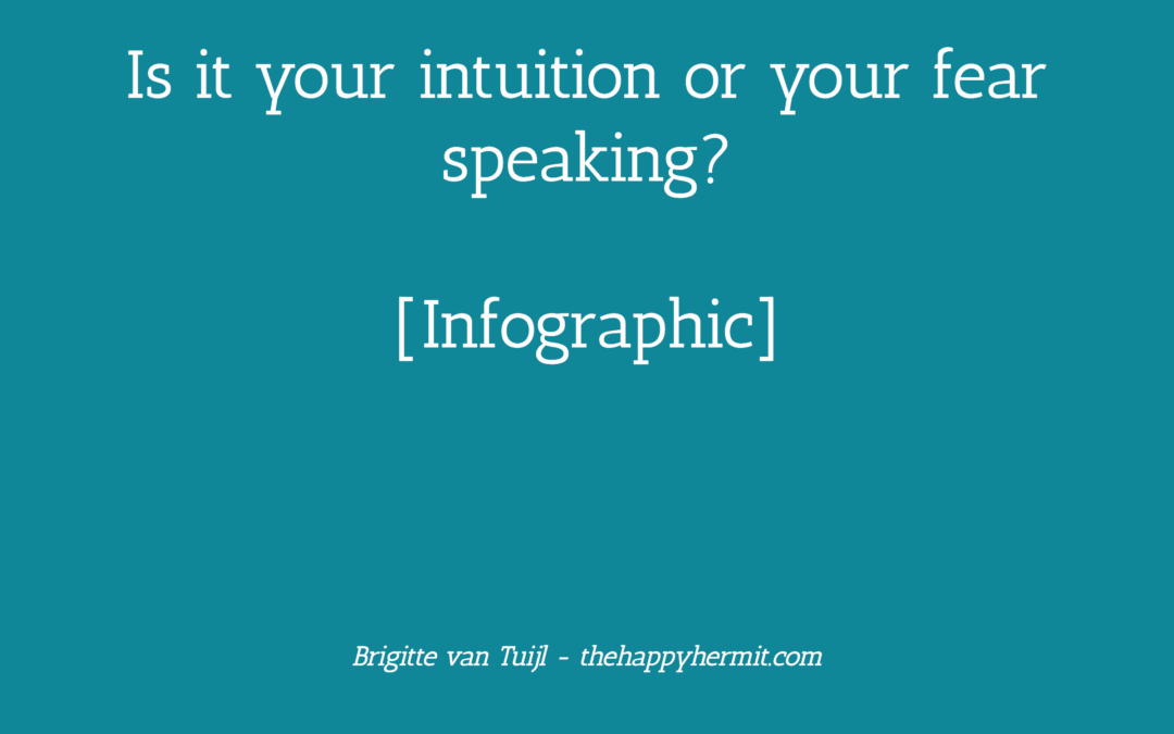 Is it your intuition or your fear speaking? [Infographic]