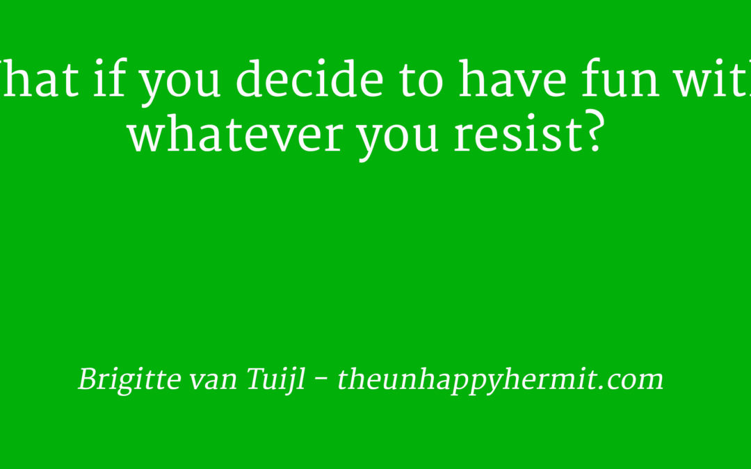 What if you decide to have fun with whatever you resist?