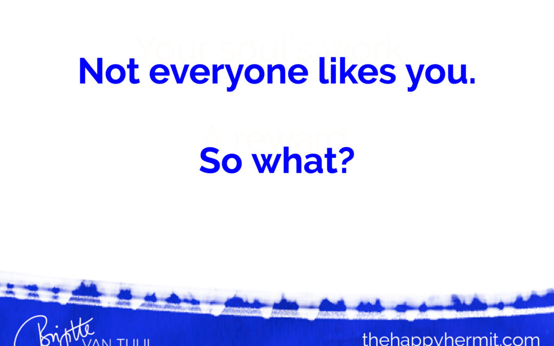 Not everyone likes you. So what?