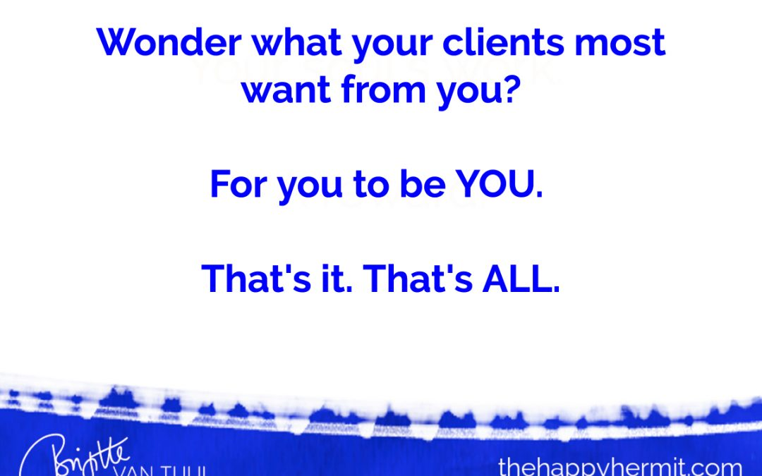 Wonder what your clients most want from you?