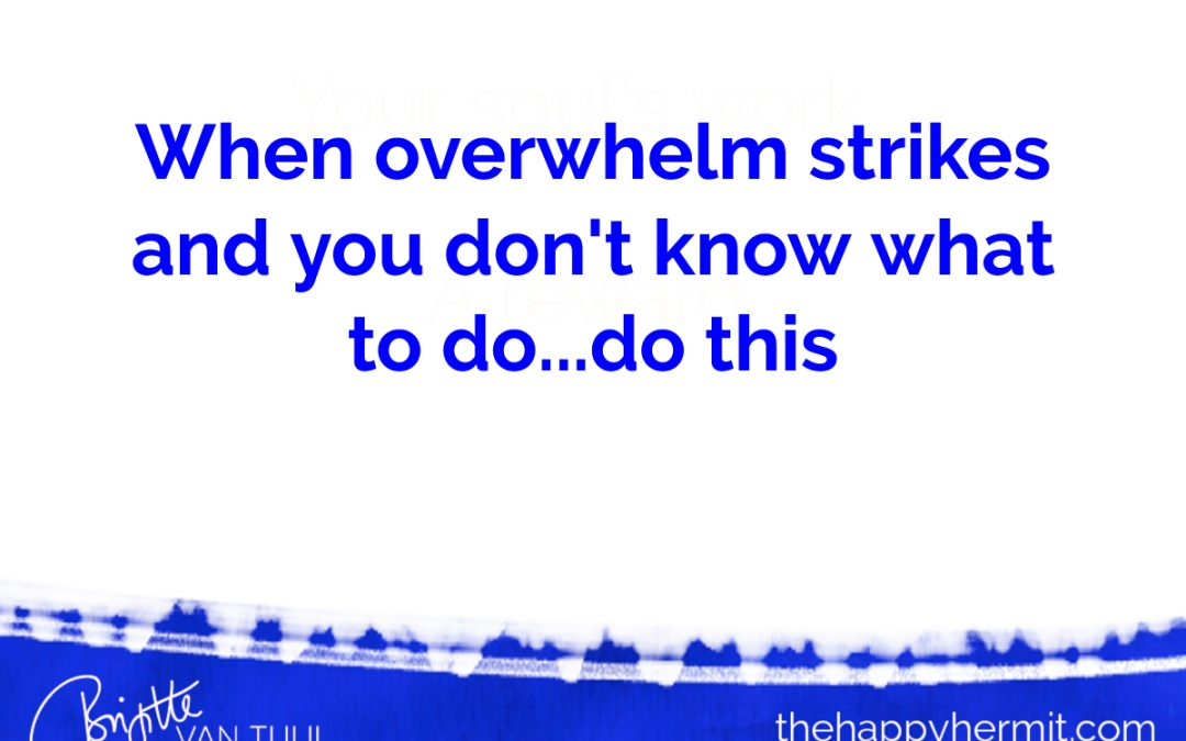 When overwhelm strikes and you don't know what to do…do this