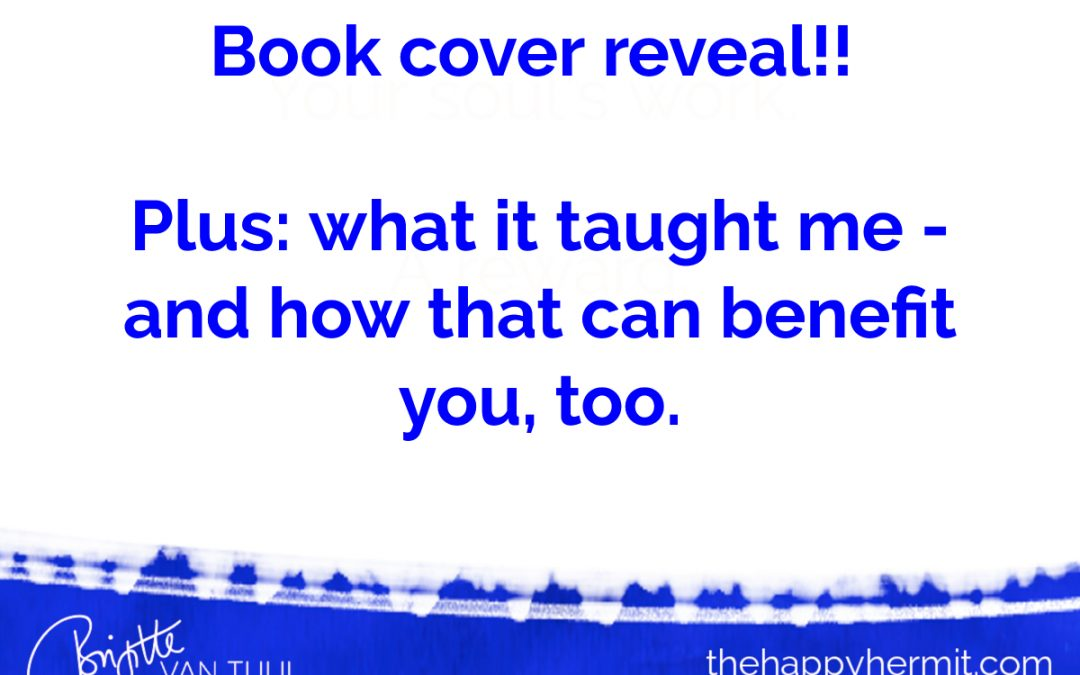 Book cover reveal!!   Plus: what it taught me – and how that can benefit you, too.