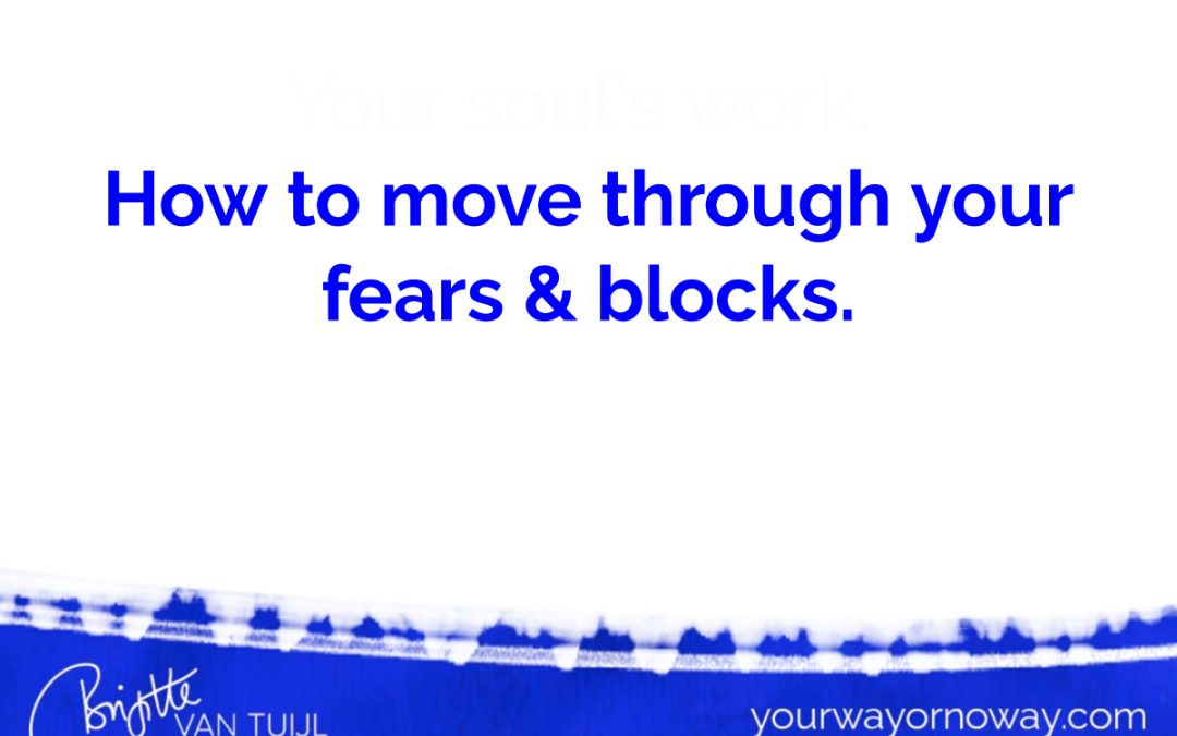 How to move through your fears & blocks.