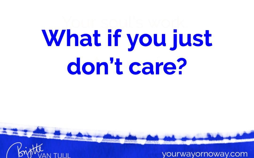 What if you just don't care?
