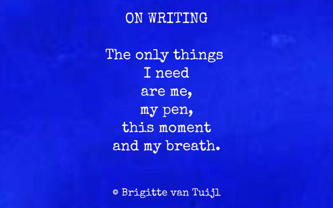 On writing…