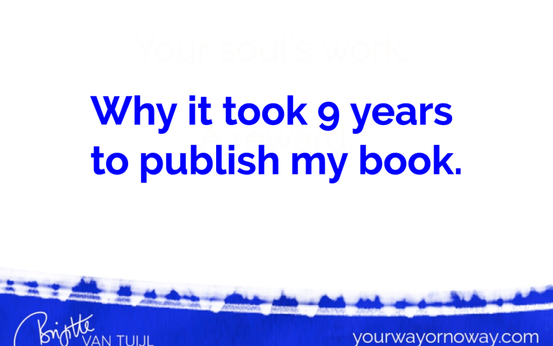 Why it took 9 years to publish my book.