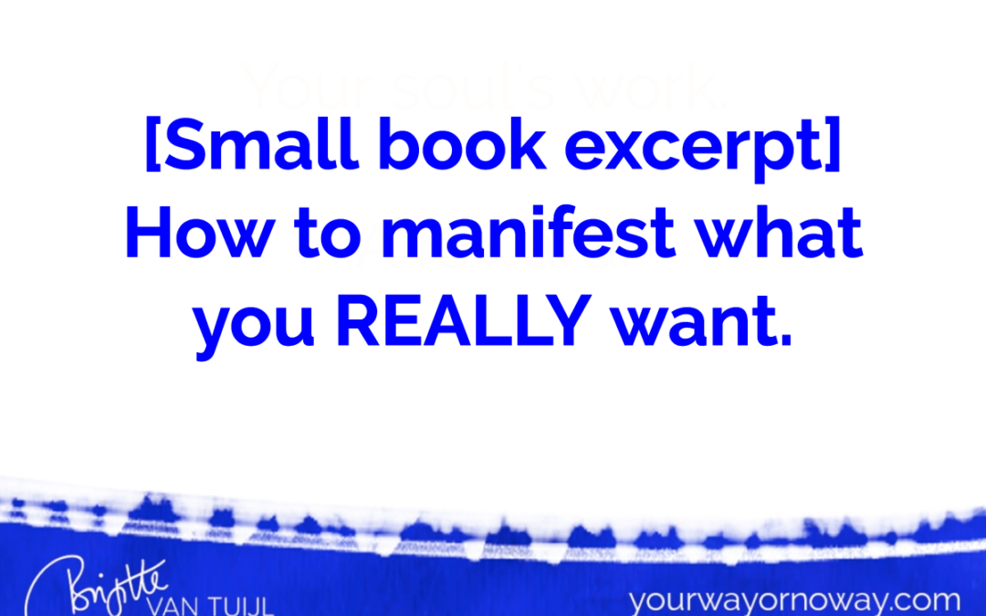 [Small book excerpt] How manifestation really works.