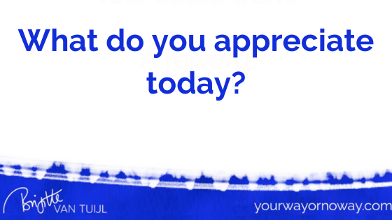 What do you appreciate today?