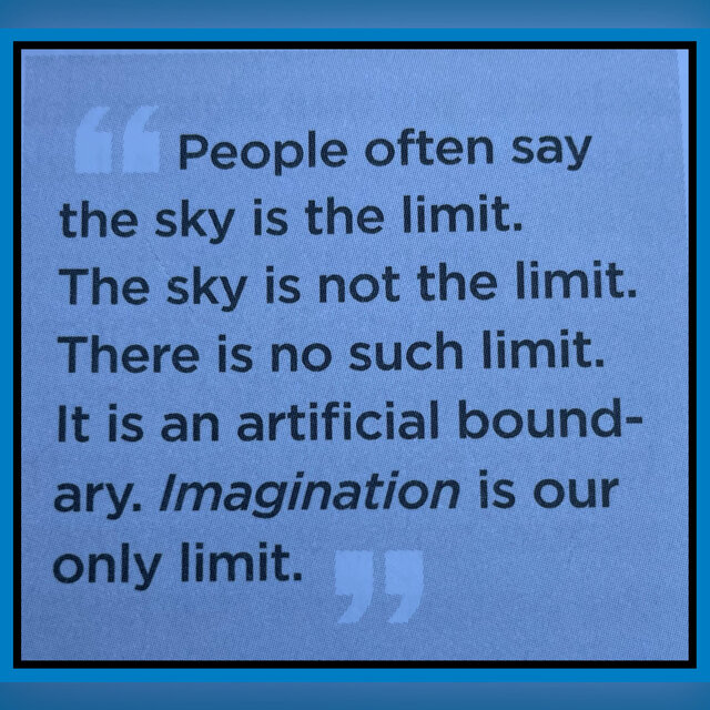 The sky is not the limit …